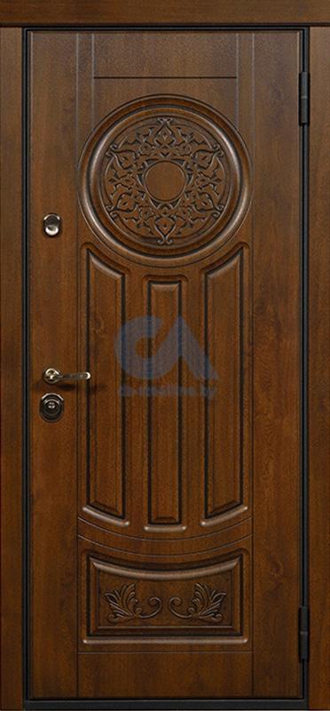 стальная дверь с глухой верхней встав