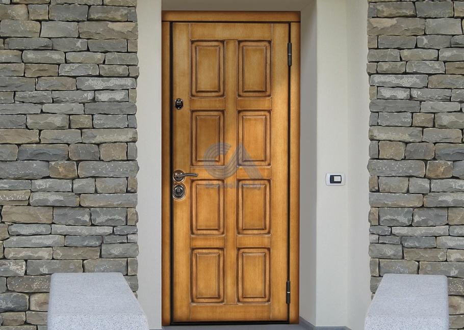 отделка железной двери снаружи