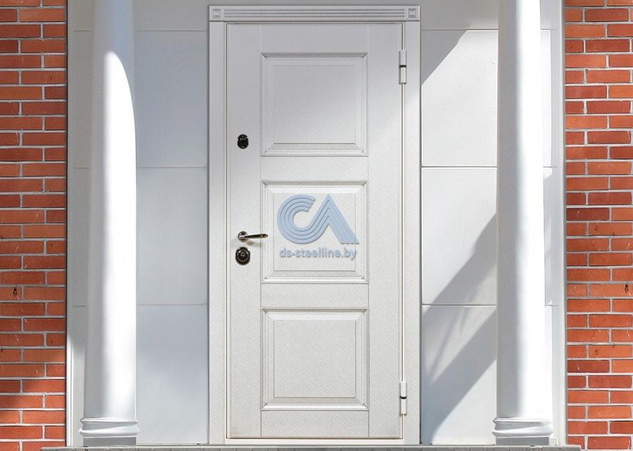 входные двери цвет белий